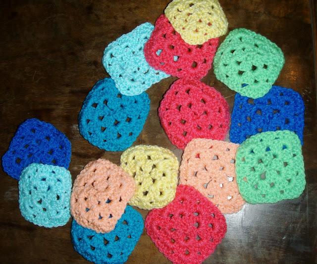 easy small granny squares