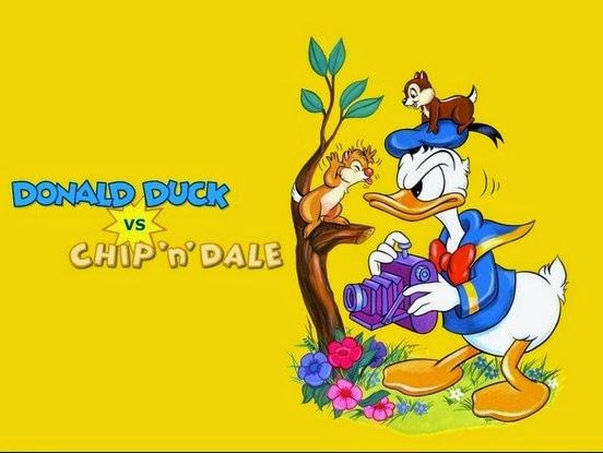 Phim hoạt hình chú vịt Donald Duck và 2 chúc sóc Chip Dale