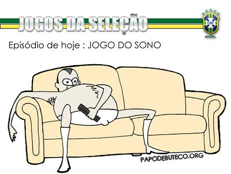 Seleção brasileira dá sono