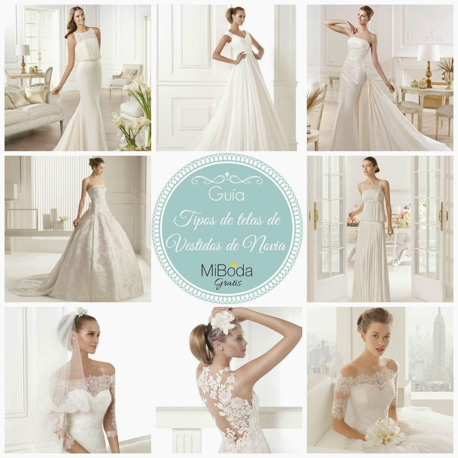 Guía tipos de telas de Vestidos de Novia