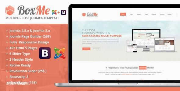BoxMe – Responsive Multipurpose Joomla Template