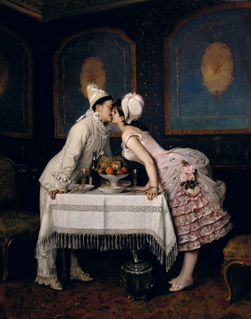 The Kiss,Auguste Toulmouche,french painter