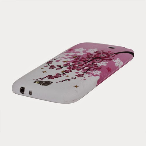 Plum Blossom TPU Jelly Case for Samsung Galaxy Note 2 / II N7100
