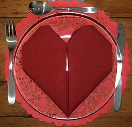 doblar servilletas en corazon
