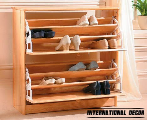 open shoe racks, wooden shoe rack