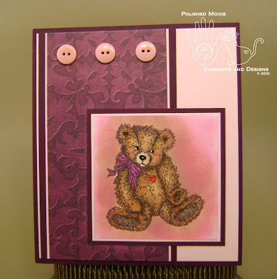 Picture of handmade Wine Teddy Bear Card