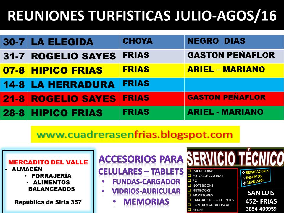 PROGRAMACION JULIO-AOSTO