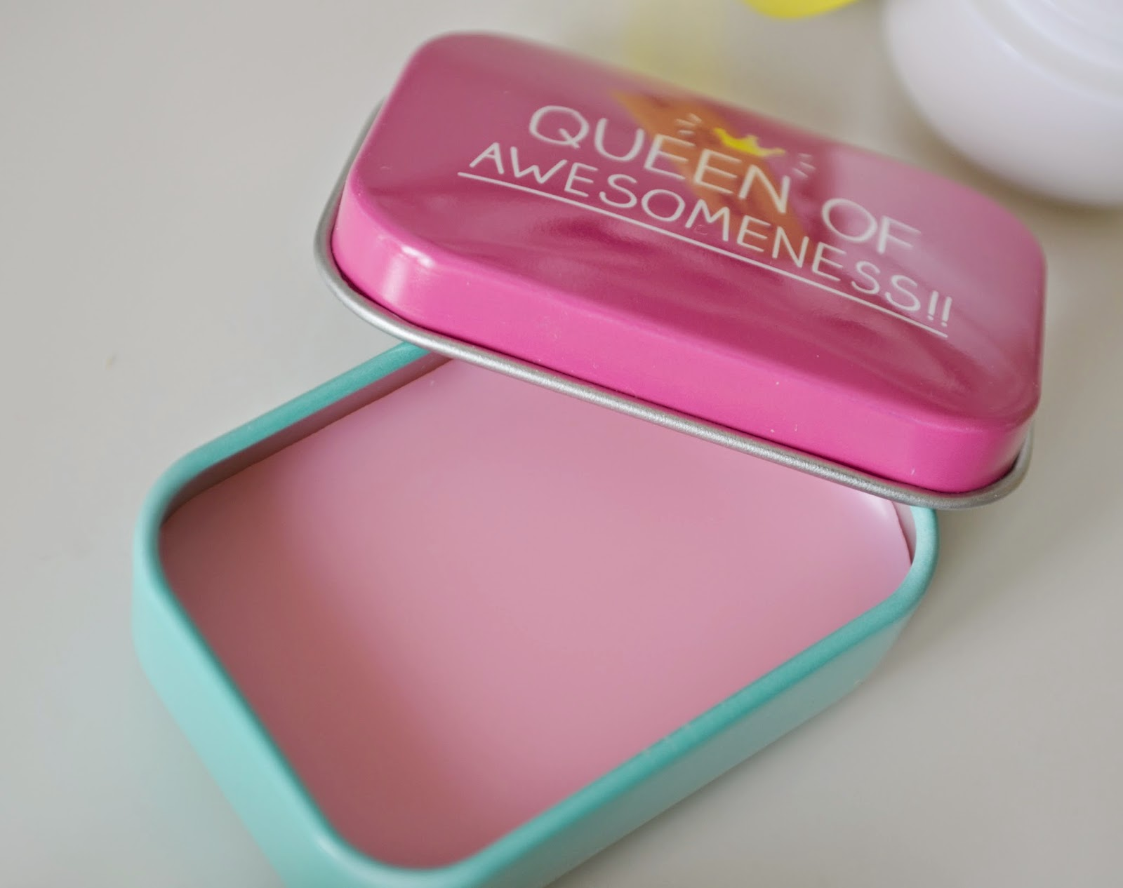 queen of awesomeness lip balm