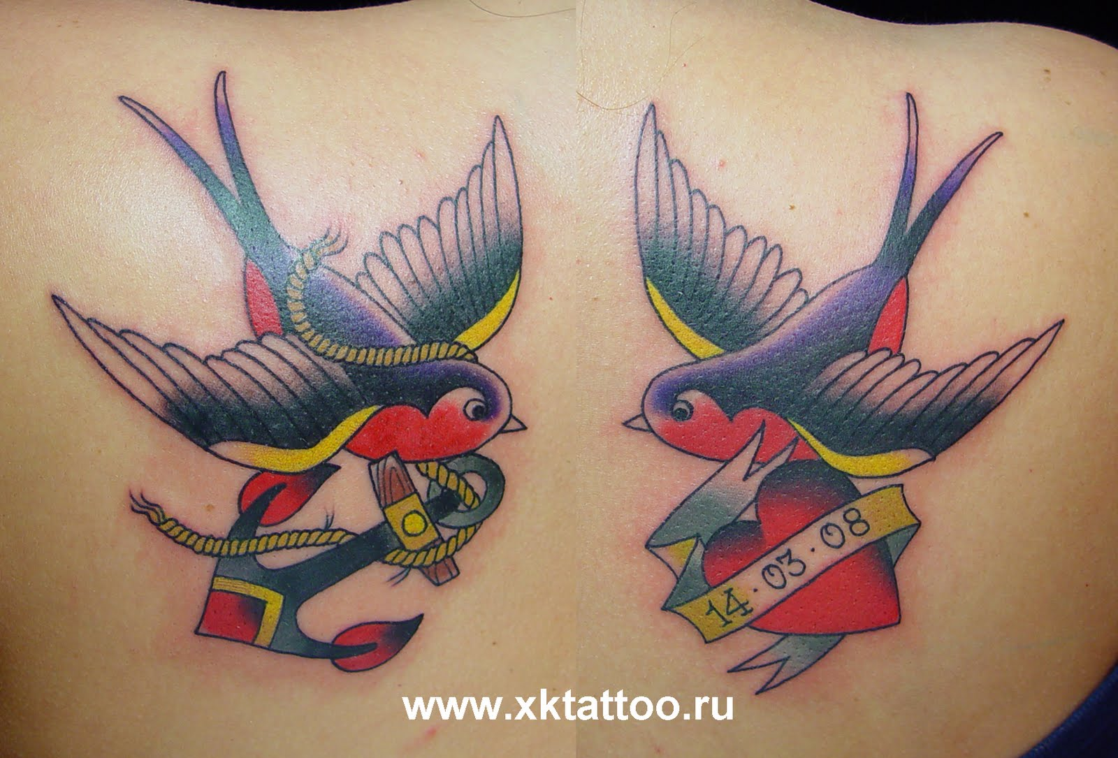birds tattoos for you old school swallow bird tattoos. Black Bedroom Furniture Sets. Home Design Ideas