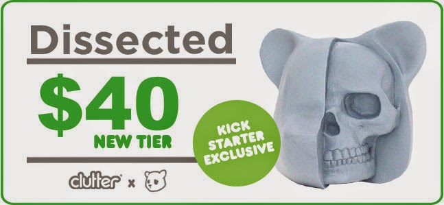 Kickstarter Exclusive Unpainted Kenner Prototype Blue Edition Dissected Vinyl Figure by Luke Chueh