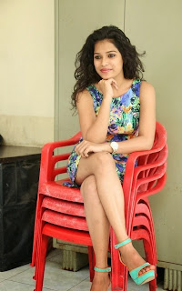 Actress Bhargavi Pictures in Floral Short Dress at Life After  Movie Press Meet  5.jpg