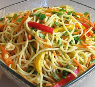 picture of Asian Noodle Salad vegan recipe for kids