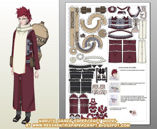 Papercraft Naruto Gaara!