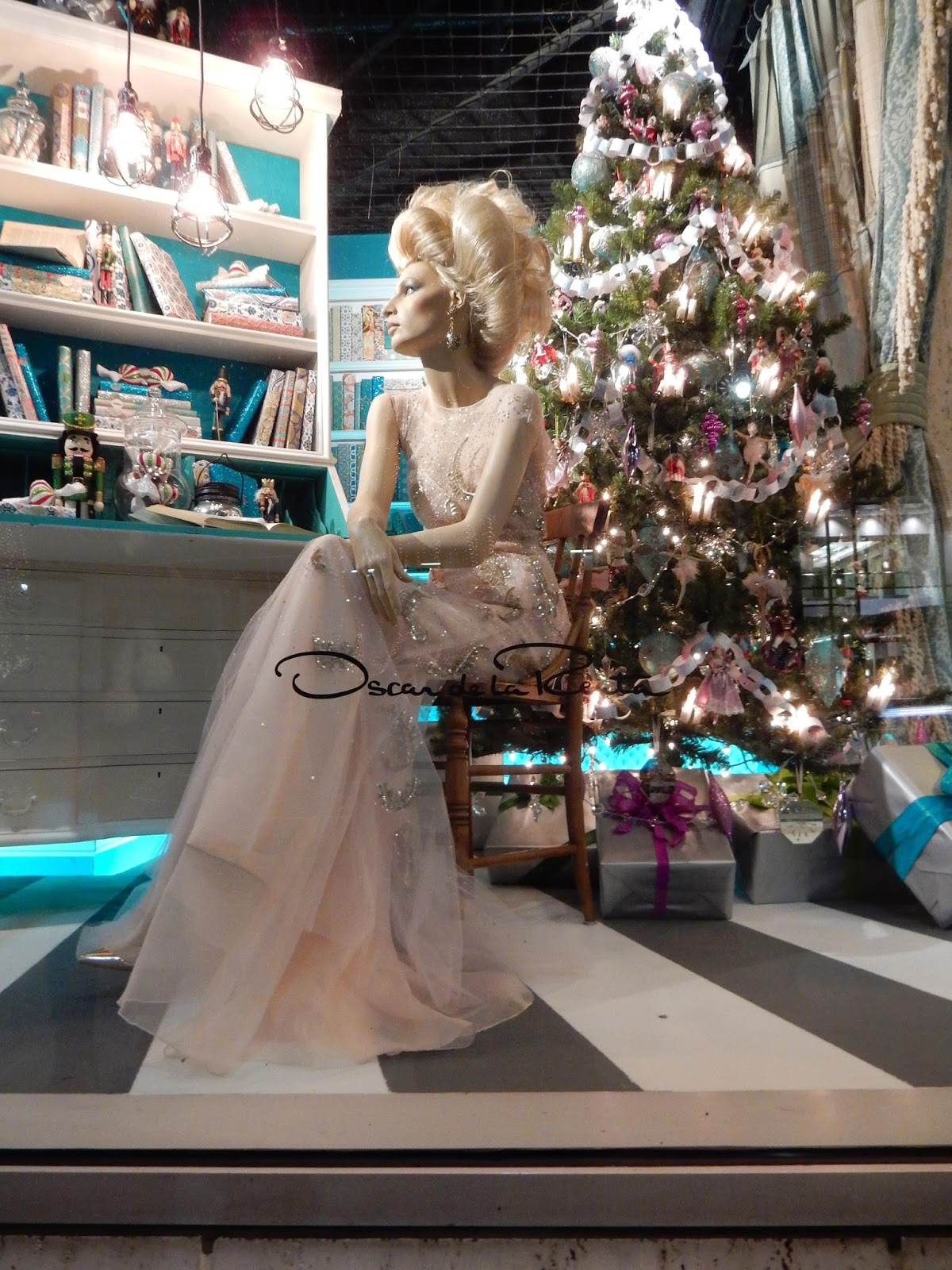 Nutcracker Ballet Oscar De La Renta dresses Neiman Marcus Holiday window Beverly Hill