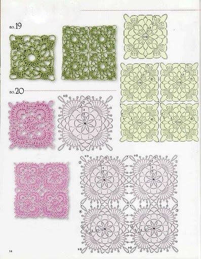 Folli passioni piastrelle e motivi all 39 uncinetto - Piastrelle all uncinetto schemi ...