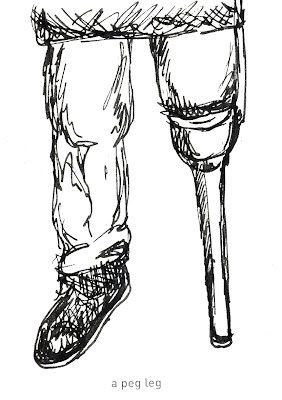 642 Things to Draw 32 - A Peg Leg - Pen and Ink by Ana Tirolese ©2012