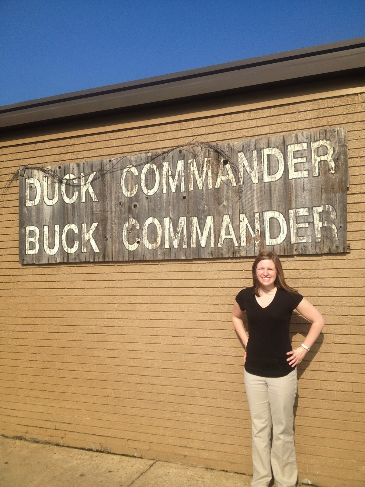 Kara visiting Duck Commander in West Monroe, LA