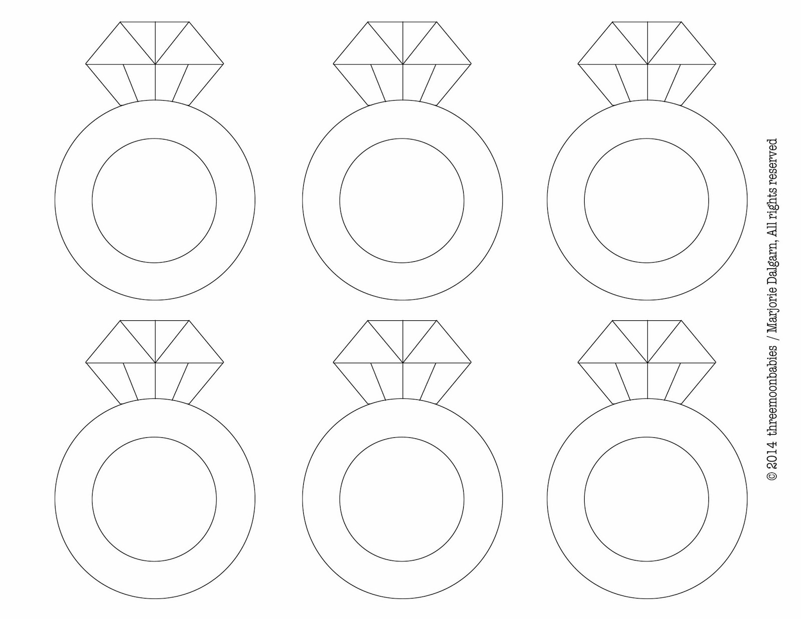 It's just a picture of Versatile Diamond Template Printable