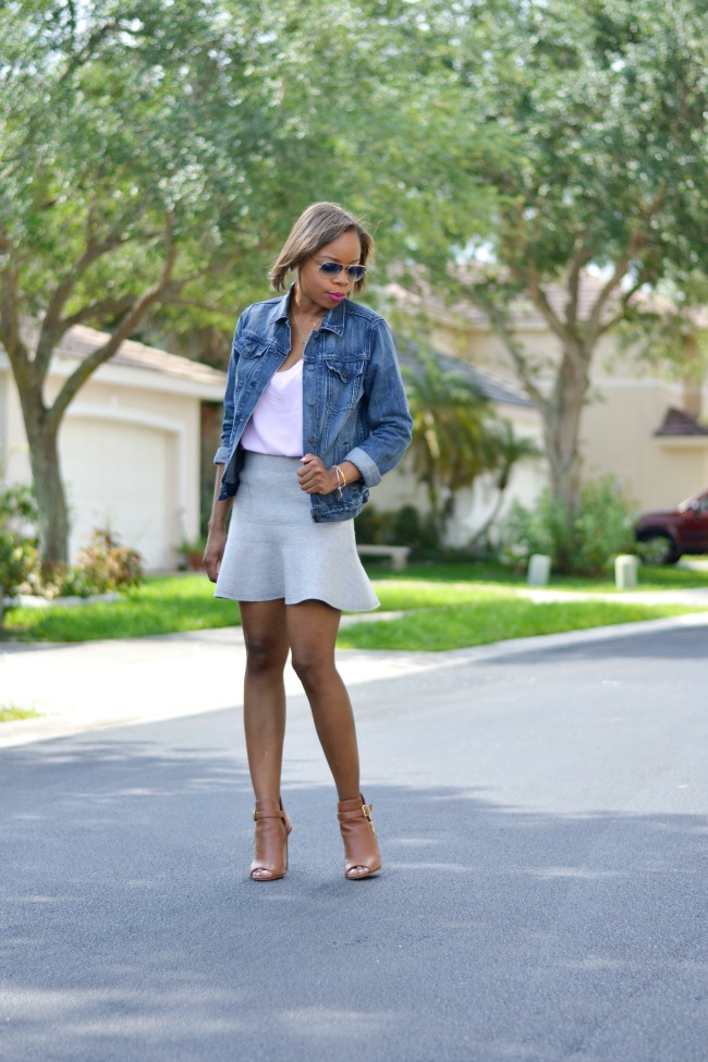 Pastel Purple + Grey | Spring Outfit Ideas