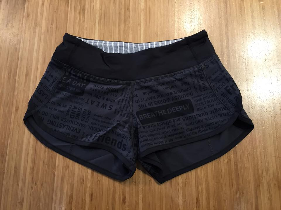 lululemon classic manifesto speed shorts