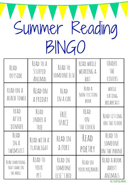 Summer Reading Bingo Challenge for Kids || The Chirping Moms