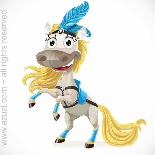Новогодние открытки с лошадкой