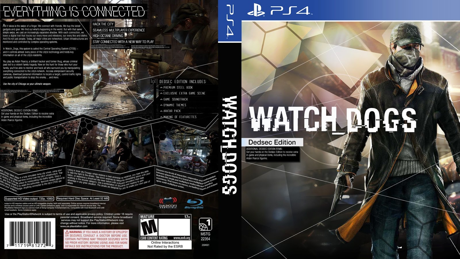 Capa Watch Dogs Dedsec Edition PS4