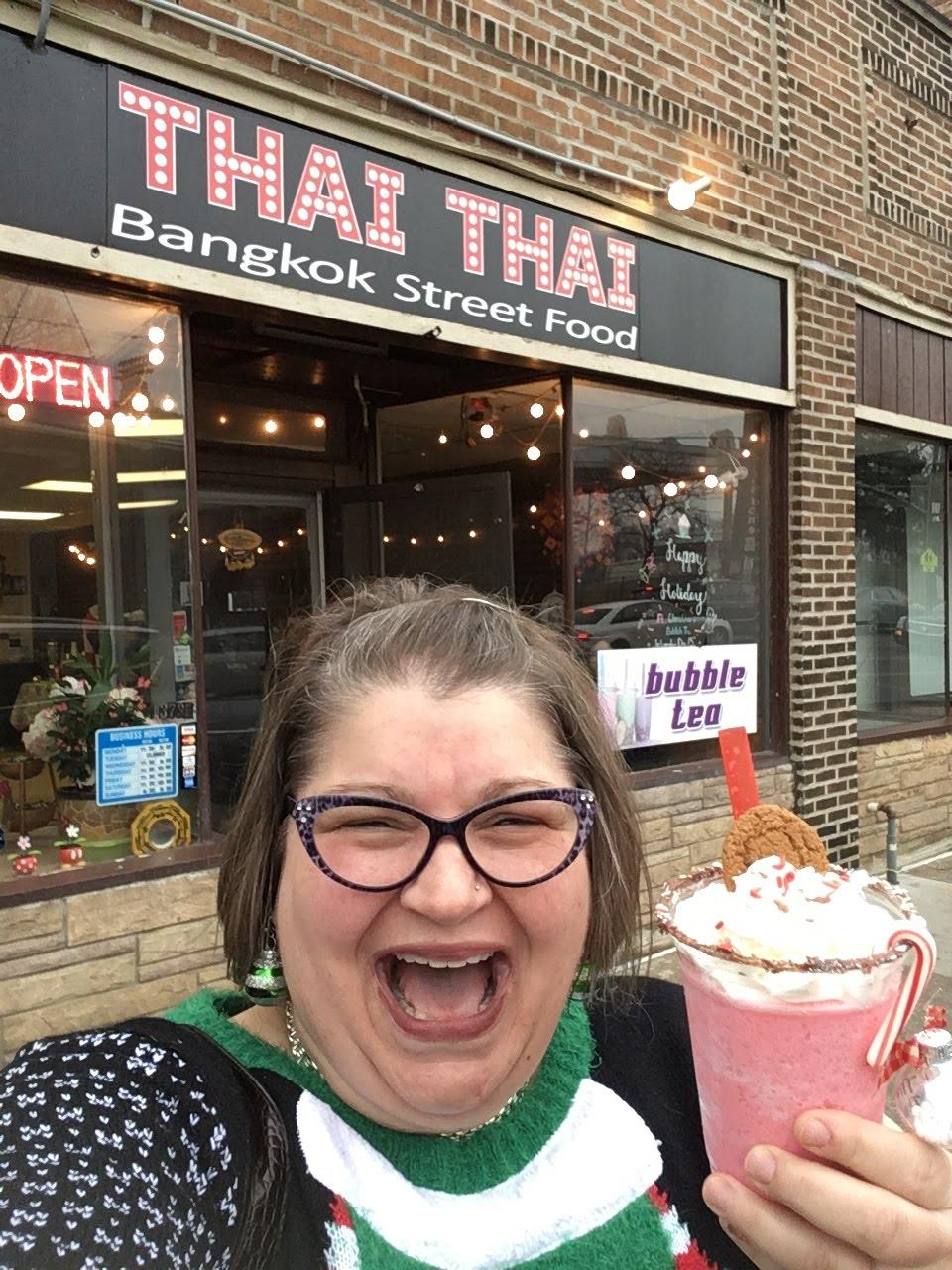 Thai Thai, Lakewood Ohio, Christmas Bubble Tea 2018