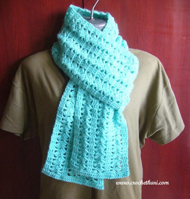 Unisex crochet scarf pattern