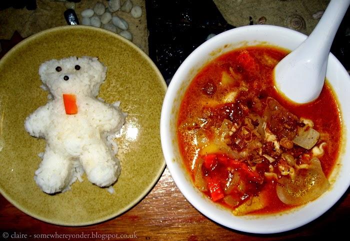 massaman curry with teddy bear rice - Koh Tao, Thailand