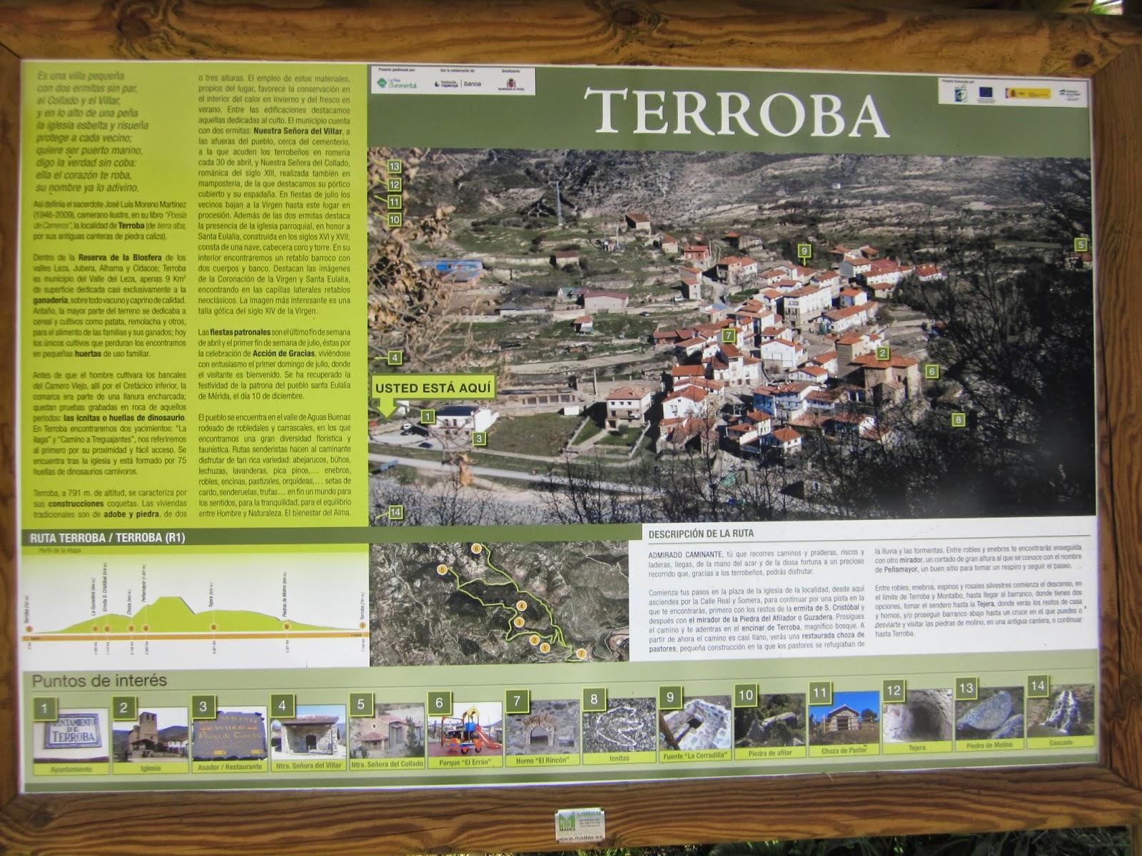 Ruta de senderismo: Terroba - El Carrascal - Tejera - Terroba