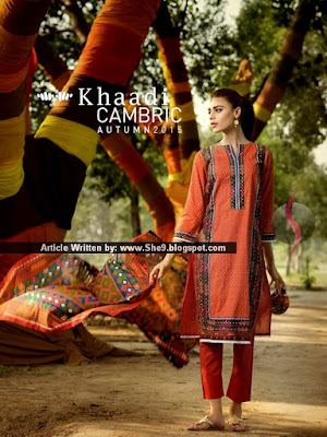 Khaadi Cambric Autumn Magazine 2015