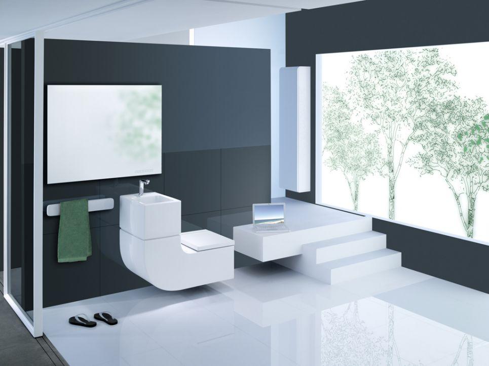 desain kamar mandi warna putih
