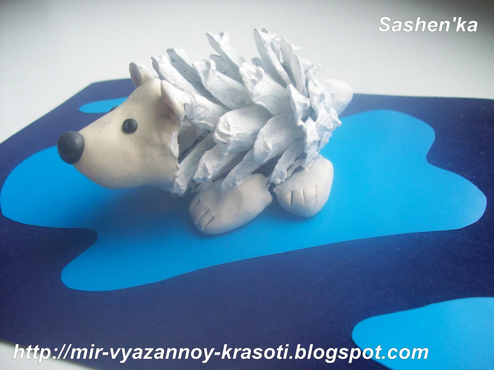 Поделки из белого пластилина