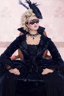 Fantasy Gothic Marie Antoinette Gown Set Halloween