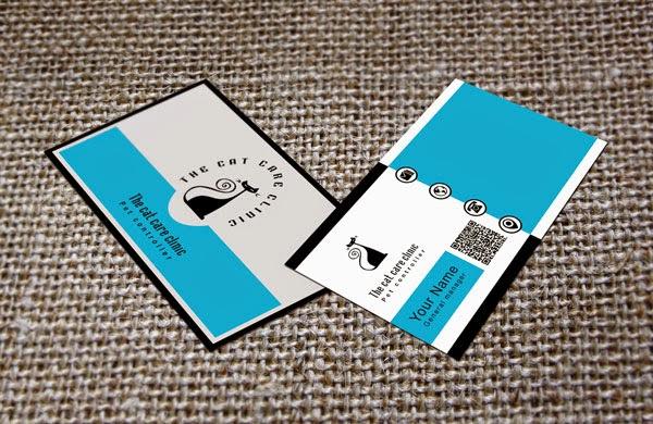 Cat Business Card PSD Template