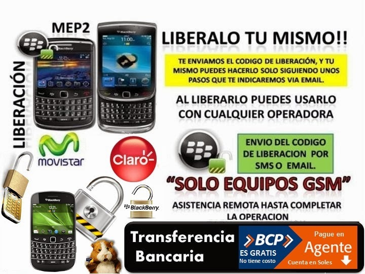 LIBERACION DE MOVILES BLACKBERRY