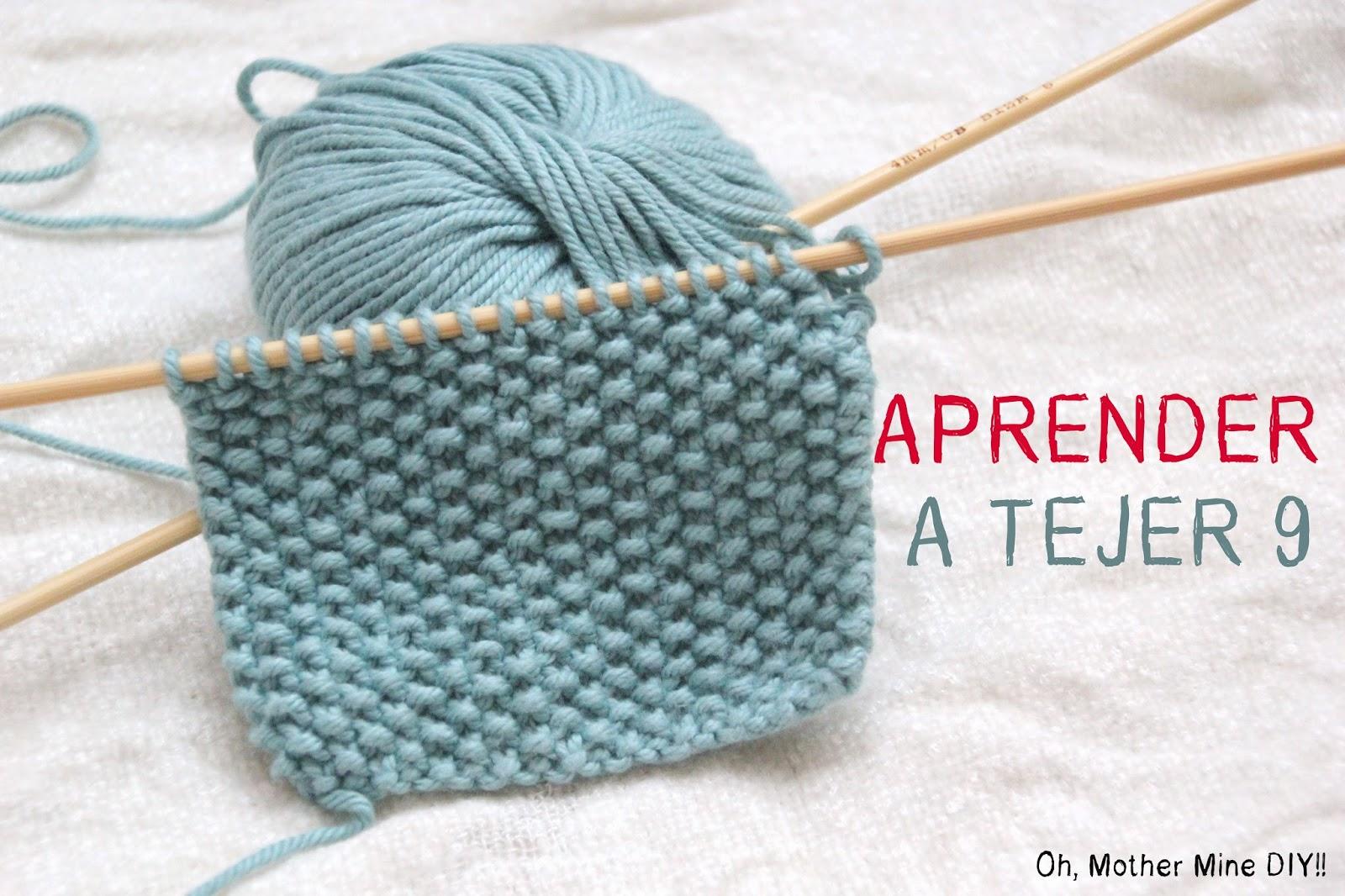 Curso aprender a tejer con dos agujas cap 9 punto de arroz oh mother mine diy bloglovin - Puntos para tejer con dos agujas ...