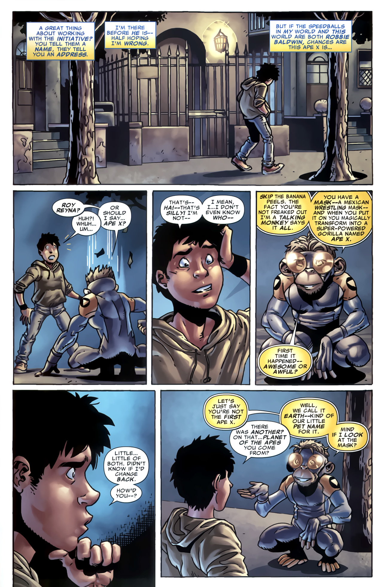 Read online Marvel Apes: Speedball Special comic -  Issue # Full - 27