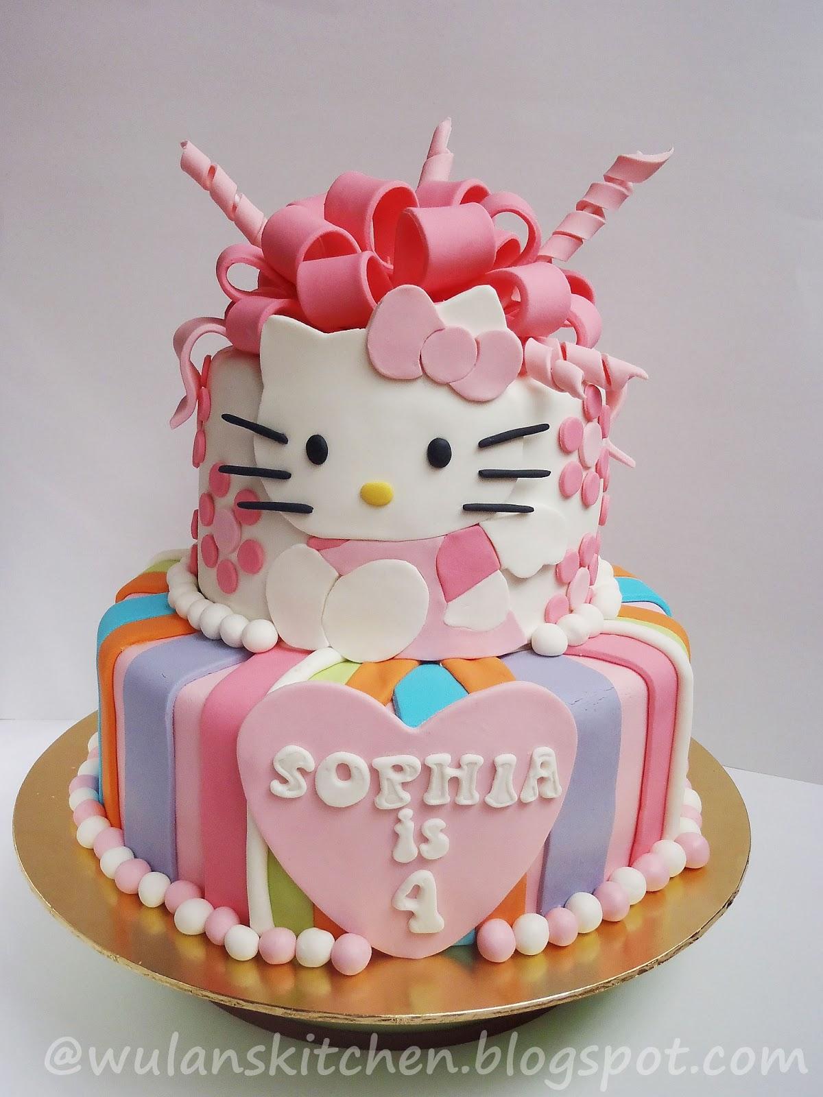 Wu Lans Kitchen 2Tier Hello Kitty Cake