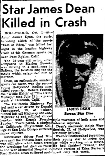 James Dean Weird Shit In Historic Newspapers
