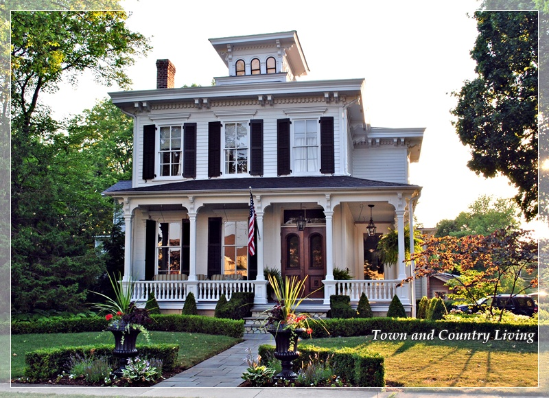 The classic white house town country living for Classical homes
