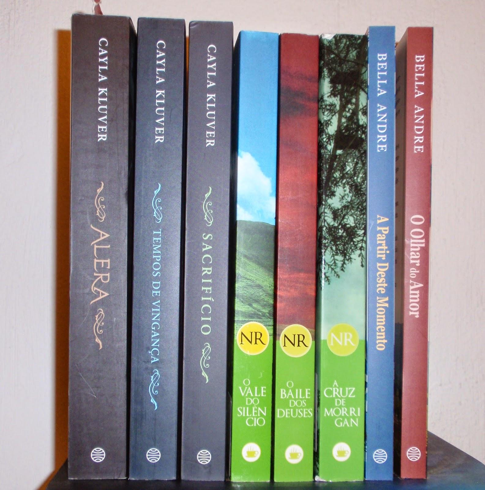 "Trilogia ""Alera"" de Kluver, "" Trilogia do Circulo"", Nora Roberts e saga ""Os Sullivans"", Bella Andre"