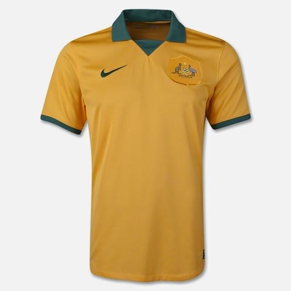 Jersey Negara Australia - Piala Dunia 2014