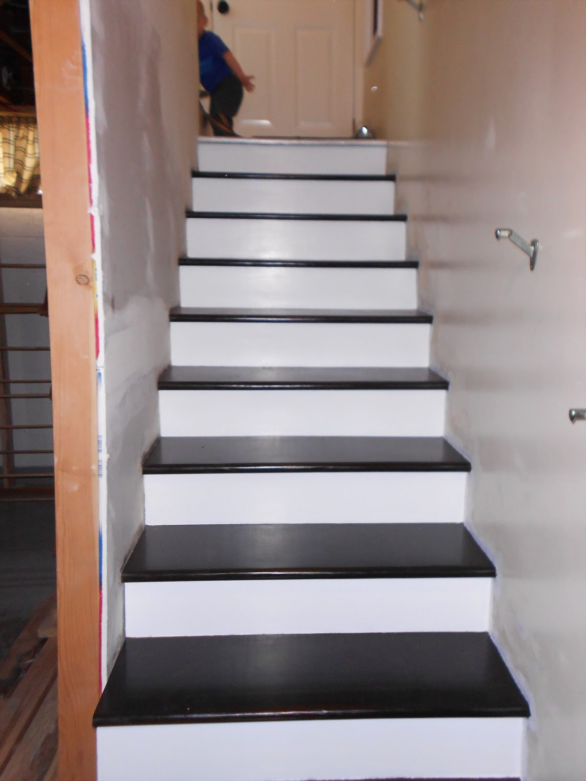 I Applied 3 Coats Of White Paint To My Stair And This Is The Finished  Product.