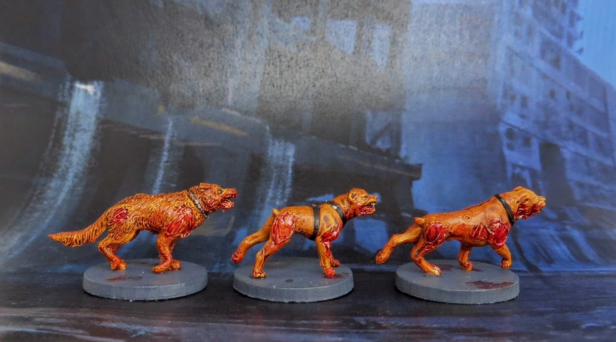 Zombiecide, Zombie, Dogz, Dogs, painted