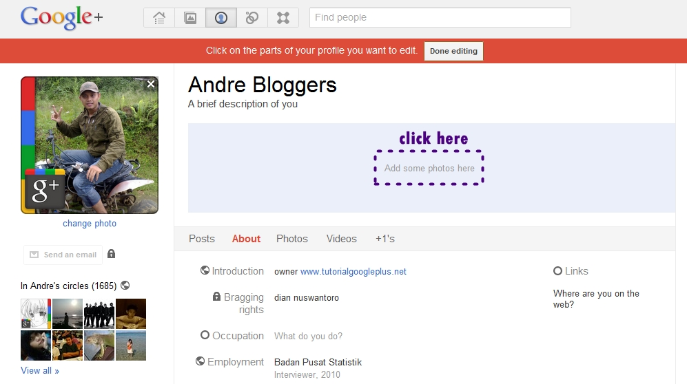 Profile Banner in Google Plus