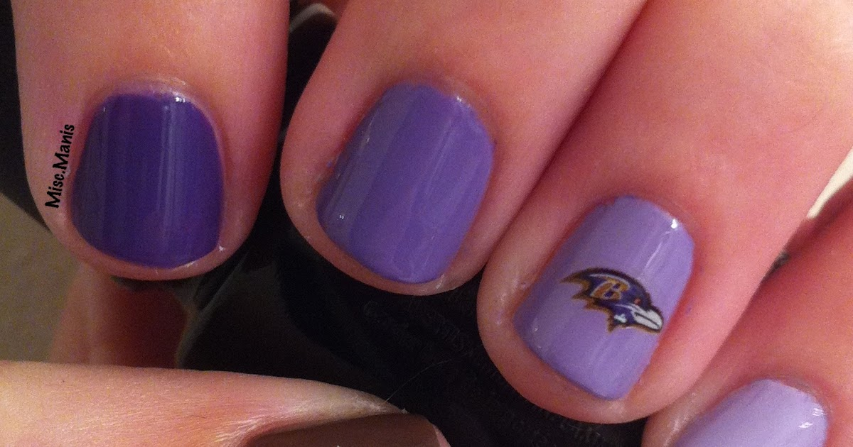 Miscellaneous Manicures Baltimore Ravens Nails Week 12