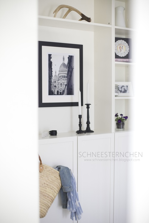 schneesternchen flur update in schwarz weiss. Black Bedroom Furniture Sets. Home Design Ideas