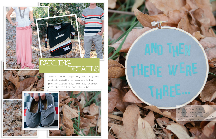 Blog Magazine, Darling Details, Baby Toms, Maternity Announcement, Baby Mighty Ducks  Photo by Paige and Blake Green